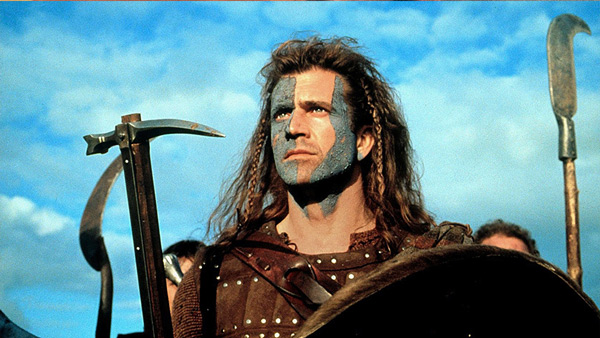 Detail of the poster for Braveheart
