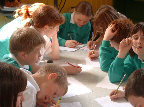 Photo of pupils working on a film