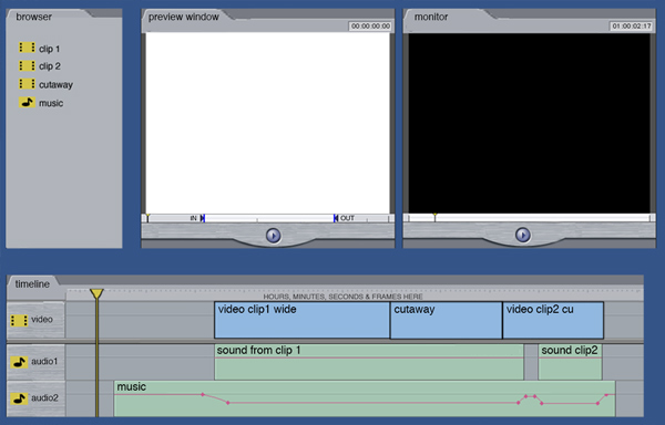 Screenshot of generic editing package