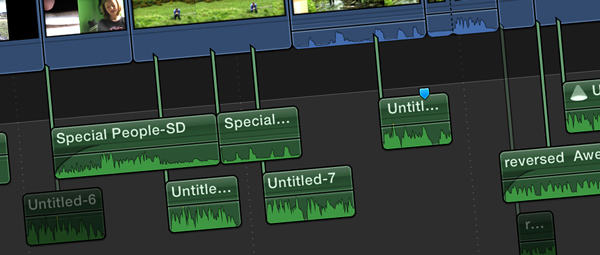 Photo close up of editing loop timeline in editing software