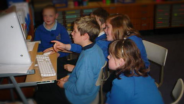 Photo of pupils editing