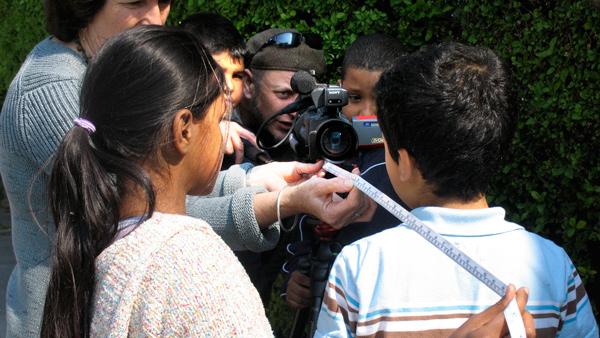 Photo of pupils measuring a shot