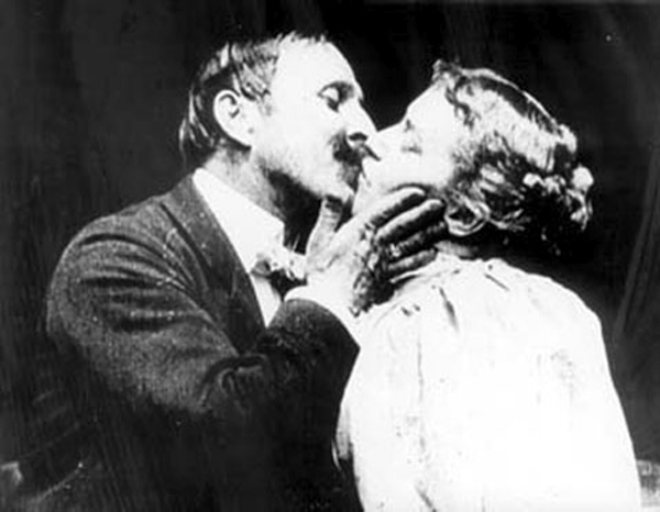 Still of the first screen kiss