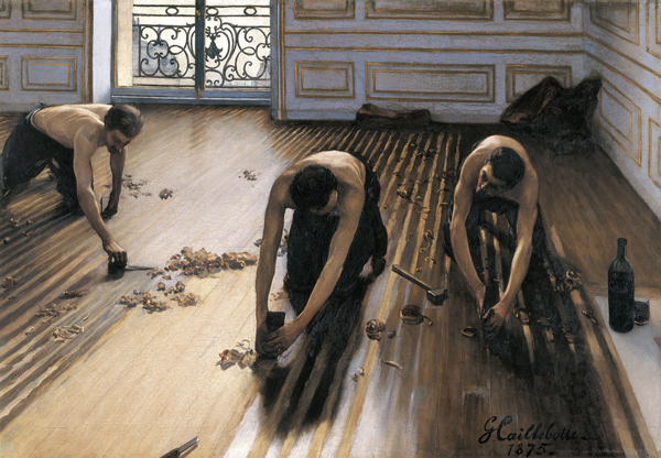 Image of the painting the floor scrapers