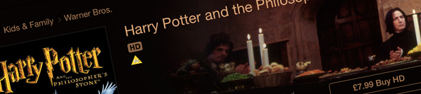 Photo of a Harry Potter film DVD cover