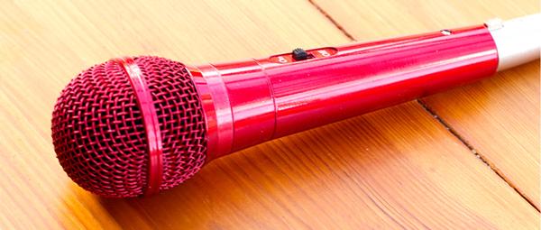 Photo of an omnidirectional microphone