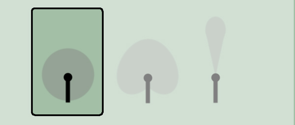 Graphic illustrating the pick up pattern of an omnidirectional microphone