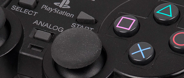 Photo close up of a playstation controller