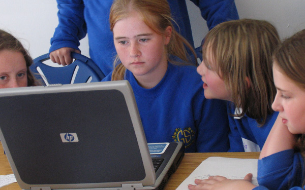 Photo of pupils in production
